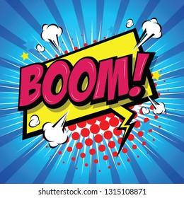 Boom! Comic Speech Bubble, Cartoon. art and illustration vector file.