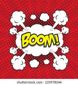 BOOM! comic word, comic backgound