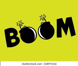 boom graphic design , vector illustration