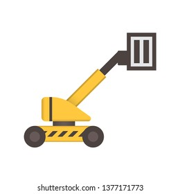 Boom lift or lifting equipment icon design.