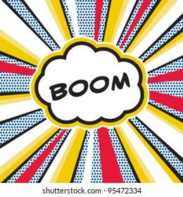 Boom, Pop art inspired illustration of a explosion