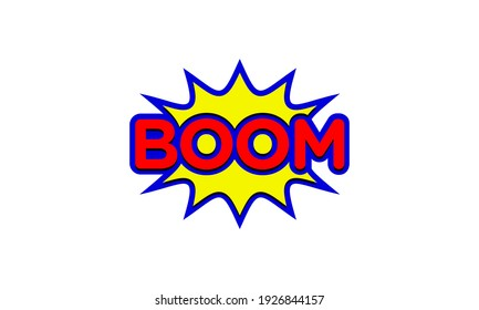 Boom Spark Splash Surprise Wordmark Lettering Typography Text Fun Logo Design