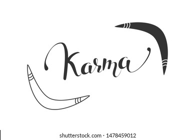 Boomerang icon. Isolated karma logotype. Flat vector illustration.