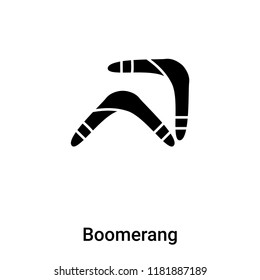 78f60e514f216a Boomerang icon vector isolated on white background