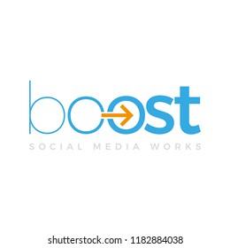 Boost Social Media SEO Agency Vector Logo