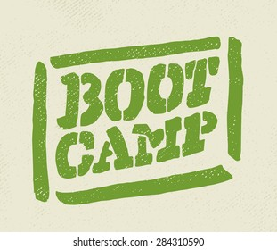 Boot camp stamp.