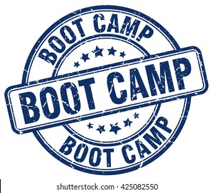 boot camp. stamp