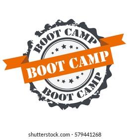 Boot camp stamp.sign,seal.logo