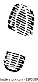 boot footprint as design element for urban grunge, military-related or hiking designs
