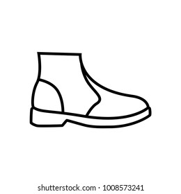 Baby boots on white background vector illustration ez canvas boot icon footwear logo element web design icon template maxwellsz