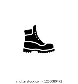 boot icon vector. boot vector graphic illustration