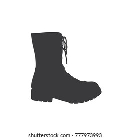 Boot icon, vector illustration design. War collection.