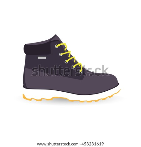 80007f8739 Boot Isolated Vector Icon High Shoe Stock Vector (Royalty Free ...
