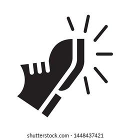 Boot kick icon. Vector illustration.