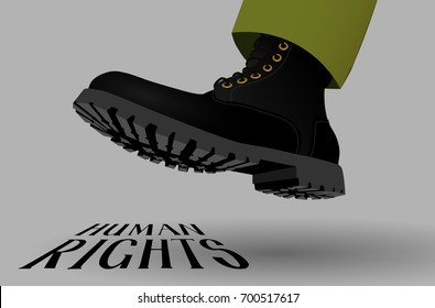 The boot steps on human rights