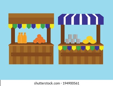 booth for party. vector illustration.