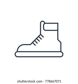 Boots icon. Isolated footwear and boots icon line style. Premium quality vector symbol drawing concept for your logo web mobile app UI design.