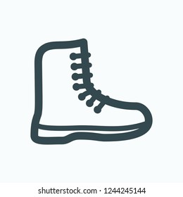 Boots icon, men's winter waterproof boots vector icon
