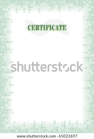 border blank diploma certificate stock vector royalty free