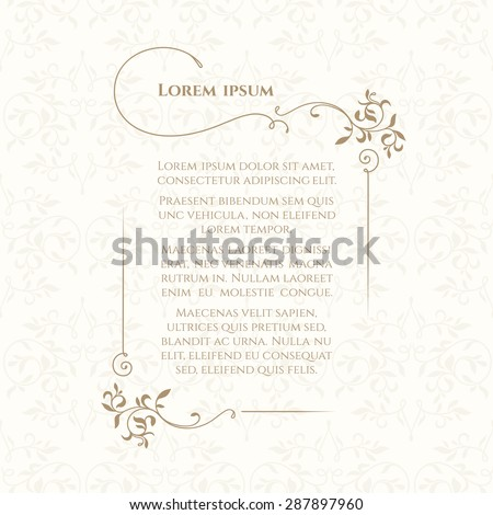Border classic seamless pattern template greeting stock vector border and classic seamless pattern template for greeting cards invitations menus labels m4hsunfo