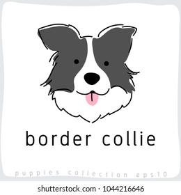 Border Collie : Dog Breed Collection : Vector Illustration