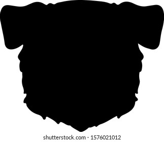 Border Collie front head silhouette