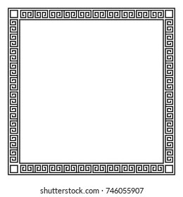 Border decoration elements  in Greece style. Vector collection