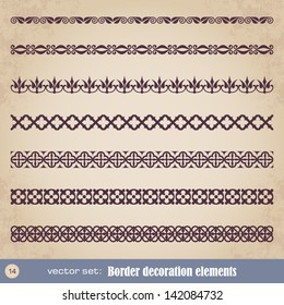 Border decoration elements set 14