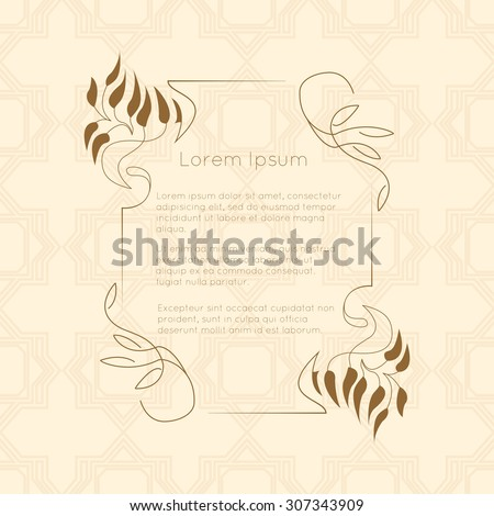 Border designs greeting cards template design stock vector royalty border designs for greeting cards template design for invitation labels poem writing m4hsunfo