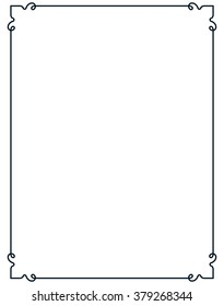 Border frame line deco vector label simple