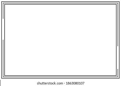Border Frame  line page vector vintage simple
