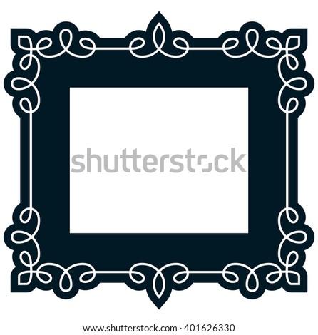 Border Frame Molding Line Deco Vector Stock Vector Royalty Free