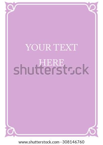 Border Frame Pink Purple Deco Vector Stockvector Rechtenvrij