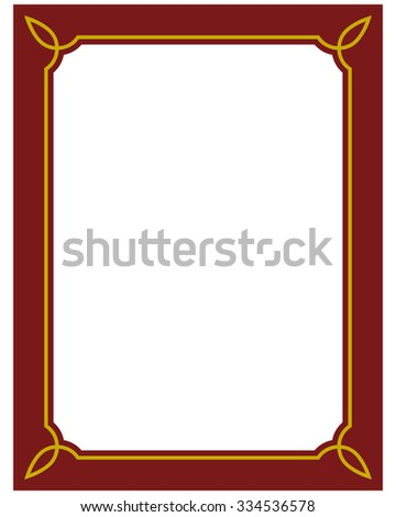 Border Frame Red Deco Plaque Vector Stock Vector (Royalty Free ...