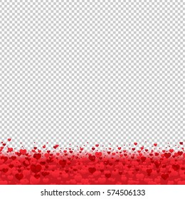 Border With Hearts, Vector Illustration