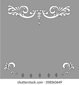 a border of scrollwork designs