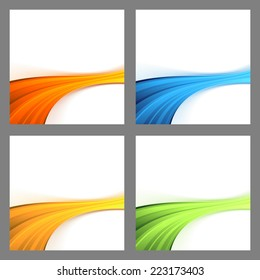 Border swoosh wave divided backgrounds - border ray power tech. Vector illustration