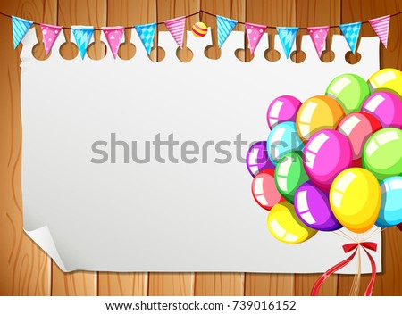 Border Template Colorful Balloons Stock Vector (Royalty Free ...