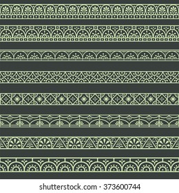 Borders with classical style Roman, Pompeian. Design elements.