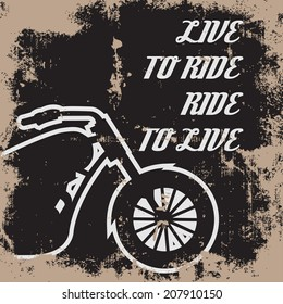 born to ride background, illustration in vector format