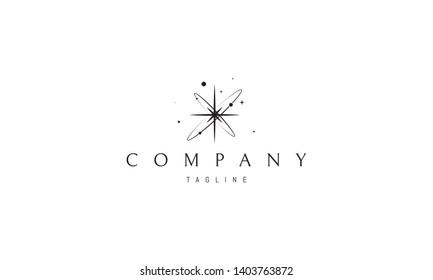Born of Star abstract black vector logo design