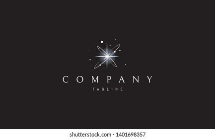 Born of Star abstract white vector logo design