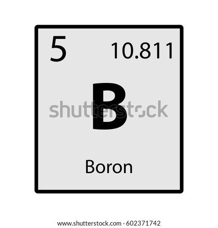 Boron Periodic Table Element Gray Icon Stock Vector Royalty Free