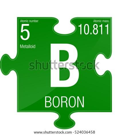 Boron Symbol Element Number 5 Periodic Stock Vector Royalty Free