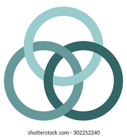 Borromean circles vector, logo design