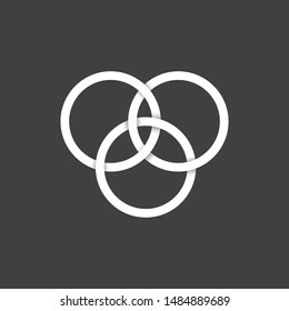 Borromean Rings, Seed of Life Rings,Triquetra Symbol,Celtic Symbols,3 rings. easy to edit and use.