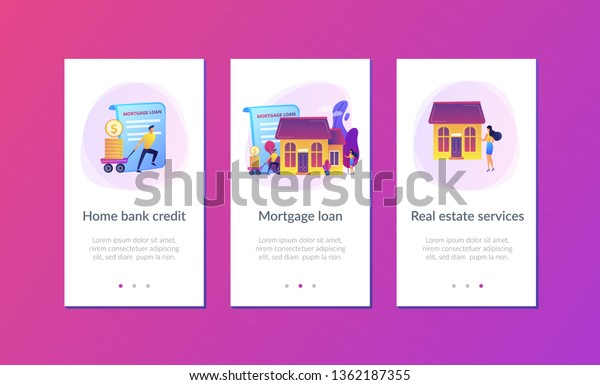 Borrower Making Mortgage Payment Real Estate Stock Vector Royalty