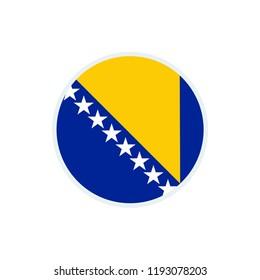 Bosnia and Herzegovina flag. Bosnia and Herzegovina circle flag. Bosnia and Herzegovina symbol.