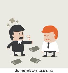 Boss anger a man