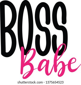 Boss Babe decoration for T-shirt